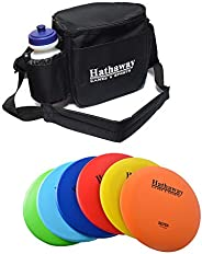 Disc Golf Starter Set with 6 Discs – Three Drivers, Two Mid-Range & One Approach/Putter with Included Case