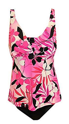Miraclesuit Fresh Prints Two-Piece Tankini Swimsuit (8, Pink/Black) - Miraclesuit Two Piece Tankini