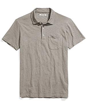 Men's Short-Sleeve Slub Polo
