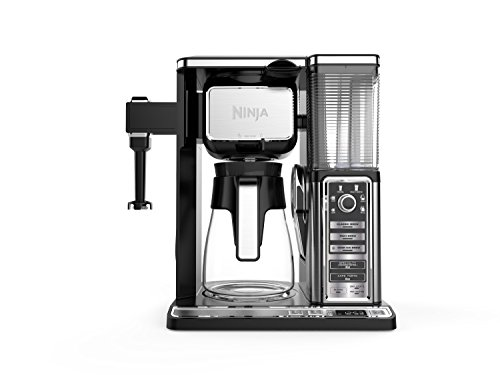 Ninja Coffee Bar Auto-iQ Programmable Coffee Maker with 6 Brew Sizes, 5 Brew Options, Milk Frother, Removable Water Reservoir and Glass Carafe (CF091)