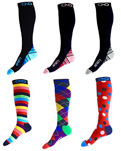 Compression Socks (1 pair) for Men & Women - BEST for Running, Nurses, Shin Splints, Flight Travel, & Maternity Pregnancy - Boost Athletic Stamina, Circulation & Recovery (i-Stripes, (Men Looking For Plus Size Women)