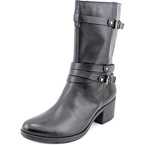 Bandolino Women's Ursal Leather Boot, Black, 5.5 M US - Bandolino Leather Platforms
