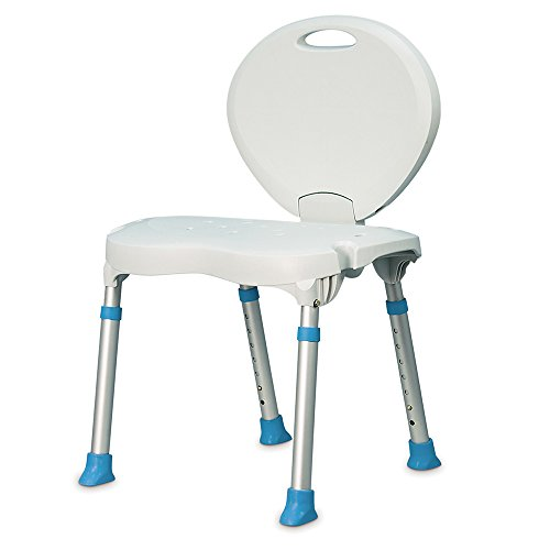 Folding Bath Seat (AquaSense Folding Bath and Shower Seat with Non-Slip Seat and Backrest, White)