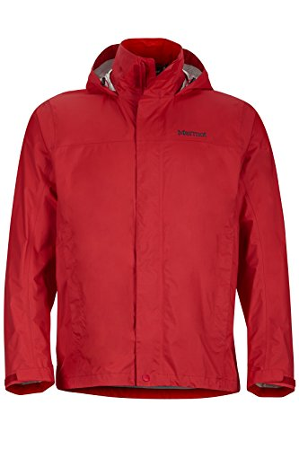 (Marmot Men's Precip Jacket, Team Red, Medium)