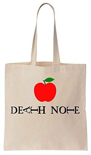 Apple of Death Logo Sacchetto di cotone tela di canapa