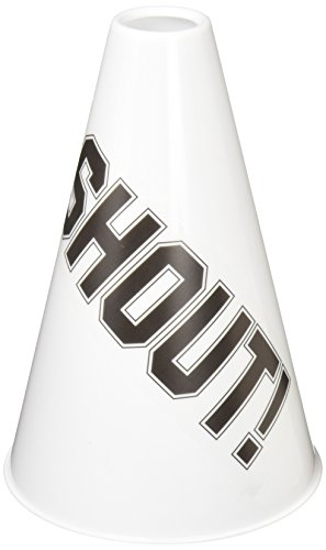 amscan White Megaphones, Party Accessory, 6 Ct.