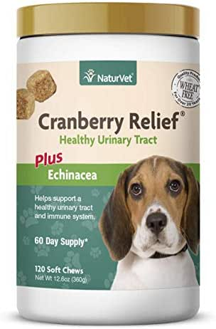 NaturVet – Cranberry Relief Plus Echinacea – Helps Support a Healthy Urinary Tract & Immune System – 120 Soft Chews