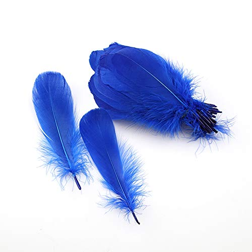 Sowder Natural Goose Feathers Clothing Accessories Pack of 100(Royal Blue)