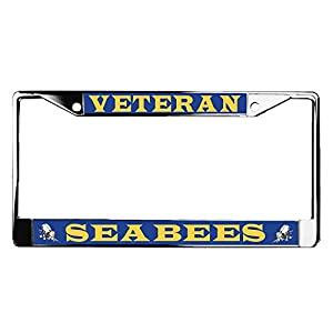 Navy Seabees Veteran License Plate Frame by VetFriends.com