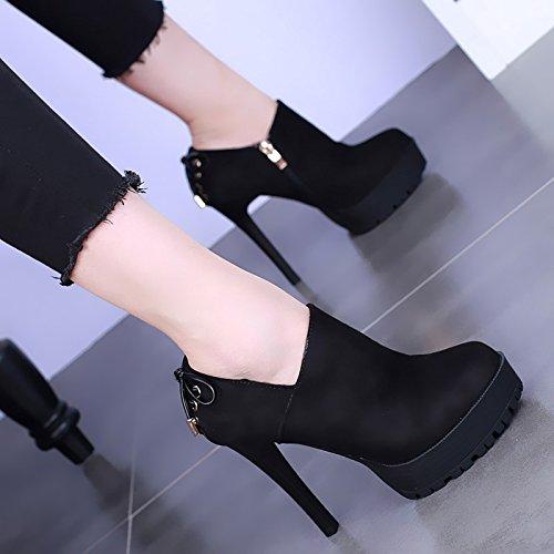 Spesso E KHSKX Semplici Shoes Papillon Tacchi Di Impermeabile Europei Spillo Fondo Americani black A Camoscio Heeled High Scarpe Scarpe zrStnzPqw