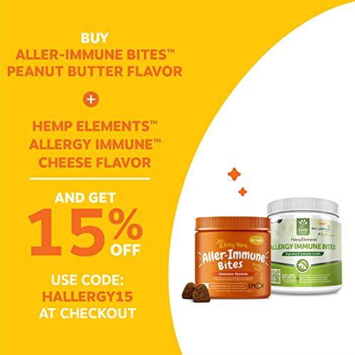 Allergy Immune Supplement for Dogs Peanut Butter  With Omega 3 Wild Alaskan Salmon Fish Oil EpiCor