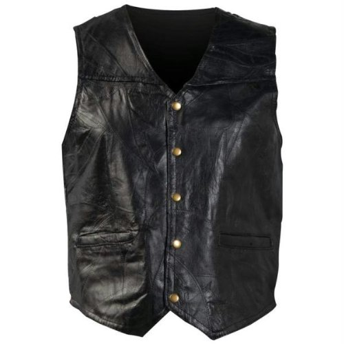 Stone Leather Vest 7x Style GFV7X Black