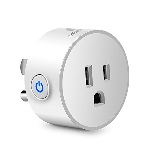 Wisdom House Smart Plug Charger Adapter Extender, WiFi Socket Wireless Mini Outlet Device, Electrical Switches, Work with Echo Alexa&Google Home, No Hub Required