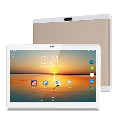 XGODY 10 Inch Tablet MTK 6753 Octa-Core 2GB+32GB HD Screen 1920x1200 Android 7.0 Support 4G LTE/3G/2G Network Tablet PC Dual camera Cell phone Support Wi-Fi Dual SIM Card Bluetooth (Gold) by Xgody