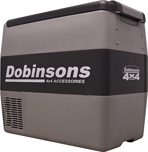 Dobinsons 4x4 50 Liter 12V Portable Fridge Freezer, Includes FREE Insulating Cover Bag (Fridge Freezer 12v)