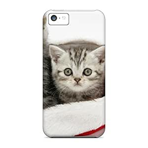 New FyGJp2034BwNLt Christmas Kitties Tpu Cover Case For Iphone 5c by icecream design