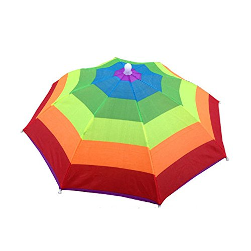 GEANBAYE Adult and Kids Golf Folding Umbrella Hats Rain Hats (Colors3)