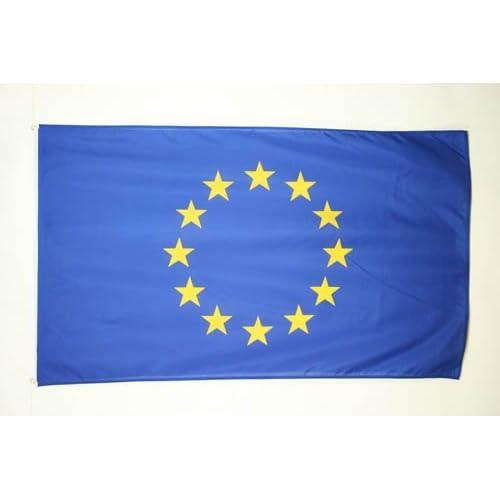 DRAPEAU EUROPE 150x90cm - DRAPEAU EUROPÉEN - UNION EUROPÉENNE - UE 90 x 150 cm - DRAPEAUX - AZ FLAG