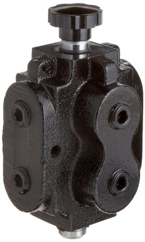 Prince DS-1A1D Directional Control Valve, Monoblock, Cast Iron, 1 Spool, 6 Ways, 2 Positions, Knob Handle, 2500 psi, 40 gpm, 1/2'' NPT Female by Prince Manufacturing (Image #1)