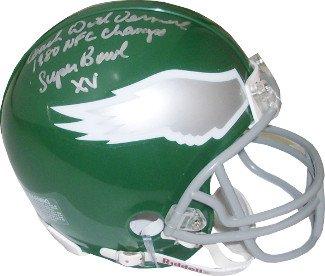 03f78462db6 Dick Vermeil signed Philadelphia Eagles TB Replica Mini Helmet w/ triple  Coach, 1980 NFC