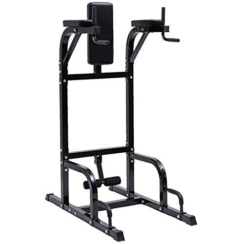 Vertical Knee Raise Dip Station Chin Up Push Up Stand Power Tower Fitness Steel Dip Stand With Ebook by MRT SUPPLY