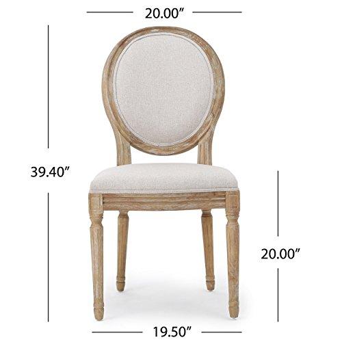 Christopher Knight Home 300258 Phinnaeus Beige Fabric Dining Chair (Set of 2), by Christopher Knight Home (Image #6)