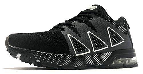 de Correr Zapatillas Exterior de Montaña Zapatos tqgold Negro Deportes Zapatillas Running Asfalto Interior para I14q4wC