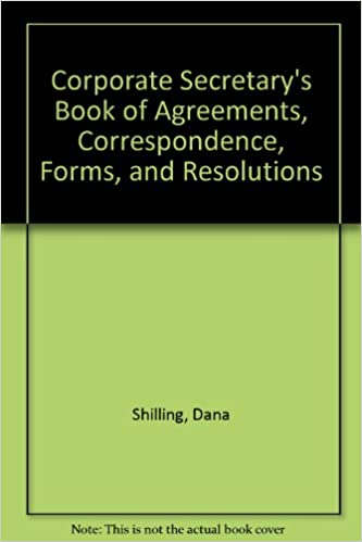 Corporate Secretarys Book Of Agreements Correspondence Forms And