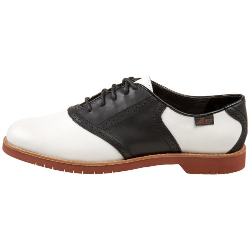 Bass Women's Enfield Oxford, White/Black, 11 M US