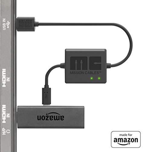 """Made for Amazon"" Mission Cables USB Power Cable for Amazon Fire TV Stick (Eliminate the need for AC Adapter)"