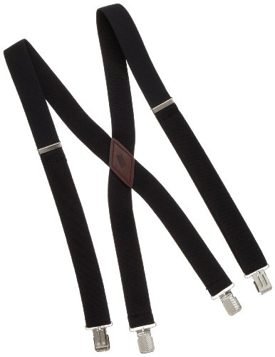 Levi's Men's Big And Tall Cotton Terry Suspender,Black, by Levi's