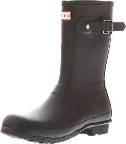 Hunter Women's Original Short Bitter Chocolate Mid-Calf Rubber Rain Boot - 7M
