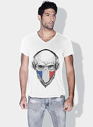 Creo France Skull T-Shirts For Men - Xl, White