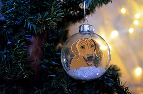 Rhodesian Ridgeback Personalized Christmas Ornament Floated Paper Memorial FLOATED PAPER WATERLESS SNOWGLOBE *not a painted ornament ()