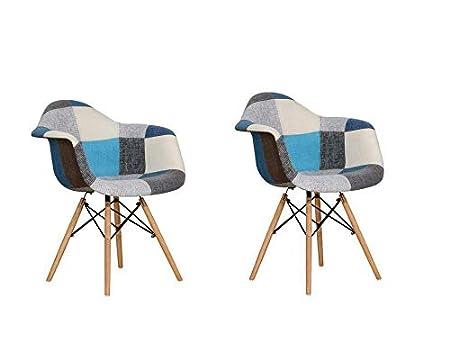 Daw Artdesign De Style Housse Lot Blue 2 Chaise En Fr Cuisine Design doCxeB