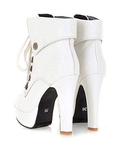 Sfnld Women's Fall Spring High Heel Short Stiletto Boots - stylishcombatboots.com
