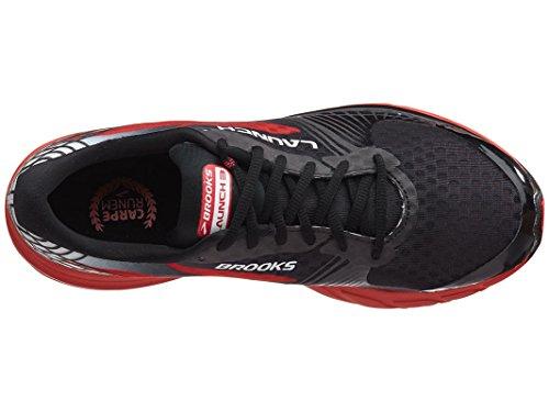 Brooks Launch 3 - Zapatillas de Entrenamiento Hombre Negro/  Rojo (Black/High Risk Red)