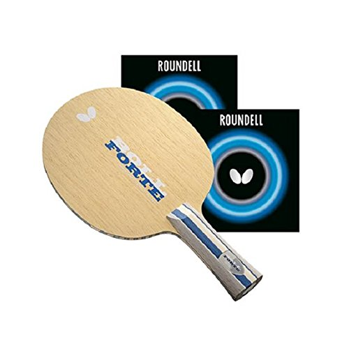 Butterfly Timo Boll Forte FL Blade with Roundell 2.1 Red/Black Rubbers Pro-Line Table Tennis Racket