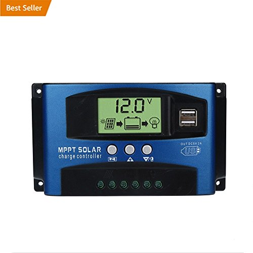 Buolo 40/50/60/100A Solar Charge Controller 12V/24V MPPT Solar Panel Regulator With Auto Focus Tracking (100A) by Buolo