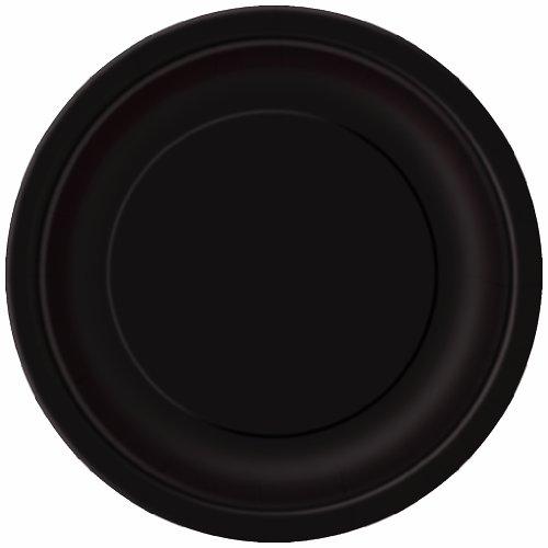 Black Paper Plates, 16ct (Halloween Kid Dinner Ideas)