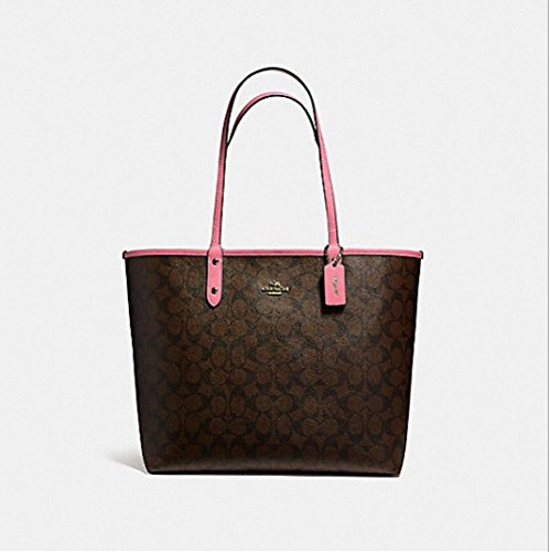 COACH REVERSIBLE CITY TOTE, F36658, LIGHT GOLD/BROWN ROUGE