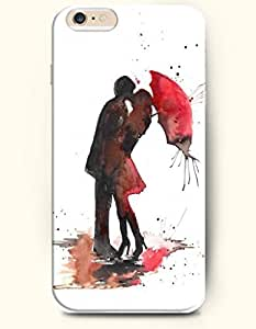 OOFIT Hard Phone Case for Apple iPhone 6 Plus ( iPhone 6 + )( 5.5 inches) - Lovers Kiss - Oil Painting