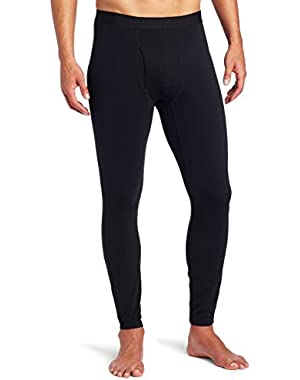Mens Midweight Base Layer Tights-Black-Large