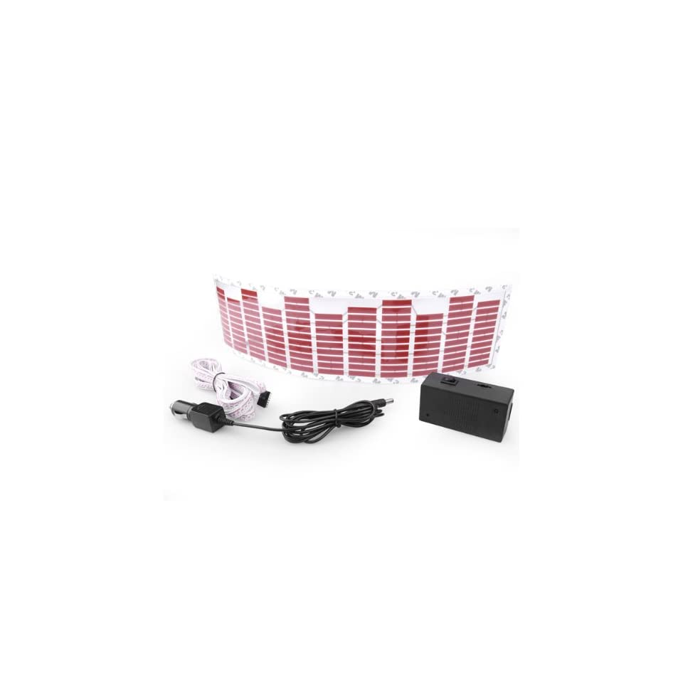 17.91 x 4.65 Inch Car Music Rhythm Lamp Rythme Light Led Sound Control Flashing Red Color Brand New Set Automotive