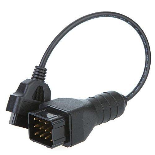 Connecteur OBDII 16pin Femelle /à Renault 12 pin XicT Adaptateur OBD1 /à OBD2 OBDII