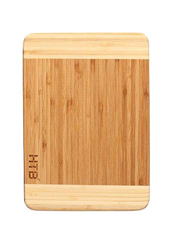HTB 100% Bamboo Cutting Board,Thick Bamboo For Food Prep, Making Cocktails or Serving Appetizers 03S ()