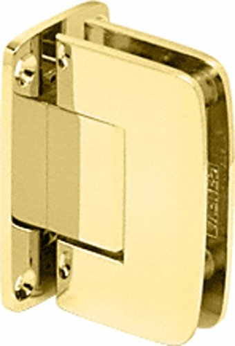 C.R. LAURENCE R0M037BR CRL Polished Brass Roman 037 Series Wall Mount Full Back Plate Standard Hinge