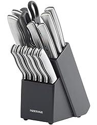 Farberware 15-Piece Stamped Stainless Steel Knife Block Set - 5152497