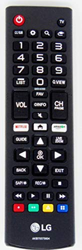 OEM AKB75375604 LG TV Remote Control for/fit 32LK540BPUA 32LK610BBUA 32LK610BPUA 43LK5400PUA 43LK5700BUA 43LK5700PUA 43LK5750PUA 43UK6090PUA 43UK6200PUA 43UK6250PUB with Netflix and Amazon Buttons