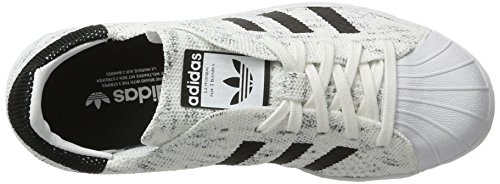 adidas Superstar 80s Prime Knit, Scarpe da Ginnastica Basse Donna Bianco (Footwear White/Core Black/Grey One)